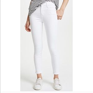 AGOLDE White High Rise Cropped Jeans Filter Free